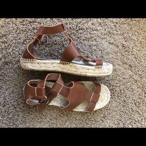 Soludos Espadrile Leather Sandals